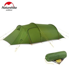 Naturehike 2-3 Person Detachable Tunnel Tent with Lobby Outdoor Camping Climbing Double Layer Waterproof Tent 4 Seasons Tent цена и фото