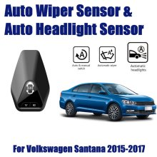 For Volkswagen VW Santana 2015~2017 Car Automatic Rain Wiper Sensors & Headlight Sensor Smart Auto Driving Assistant System