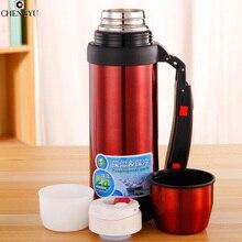 NEUE Edelstahl Drink Vakuum Thermos 1L für Outdoor Fun & sport Thermoskanne Kaffee & Getränke Trinkflasche Heiß kalt