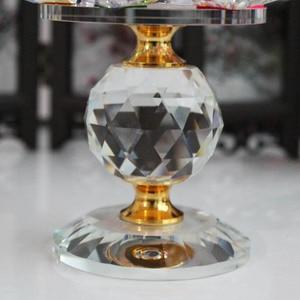 Image 5 - XINTOU portavelas de Metal con diseño de flor de loto, candelabros con diseño de flor de loto, decoración para el hogar Feng Shui