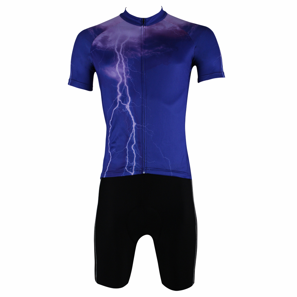 New Thunderstorm Lightning Men top Sleeve Cycling Jersey Purple Bike / Bicycle shirts Breathable Cycling Clothes Size S-6XL ILPA 2016 new men s cycling jerseys top sleeve blue and white waves bicycle shirt white bike top breathable cycling top ilpaladin