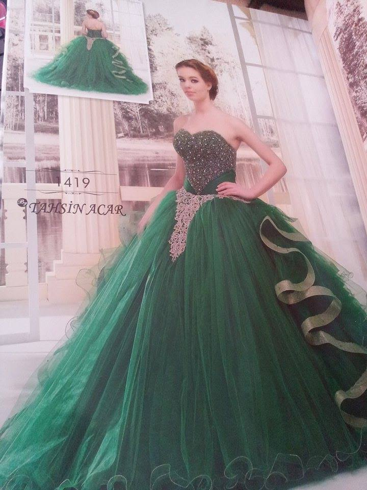 green ball gown page 1 - gowns