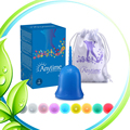 3PCS Medical Grade Silicone Menstrual  Reusable  Feminine hygiene product Medical Grade Silicone Menstrual Cup Lady Menstruation
