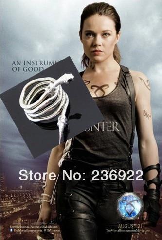 ZRM 20pcs lot Wholesale The Mortal Instruments City of Bones Isabelle Lightwood s Electrum WhipSerpent Bracelet