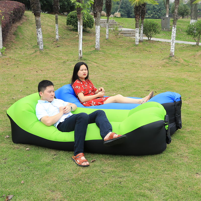 Camping Sofa Sleeping lay bag Fast Inflatable banana Bag Air Bed Lounger Lazy Chair Mattress hiking