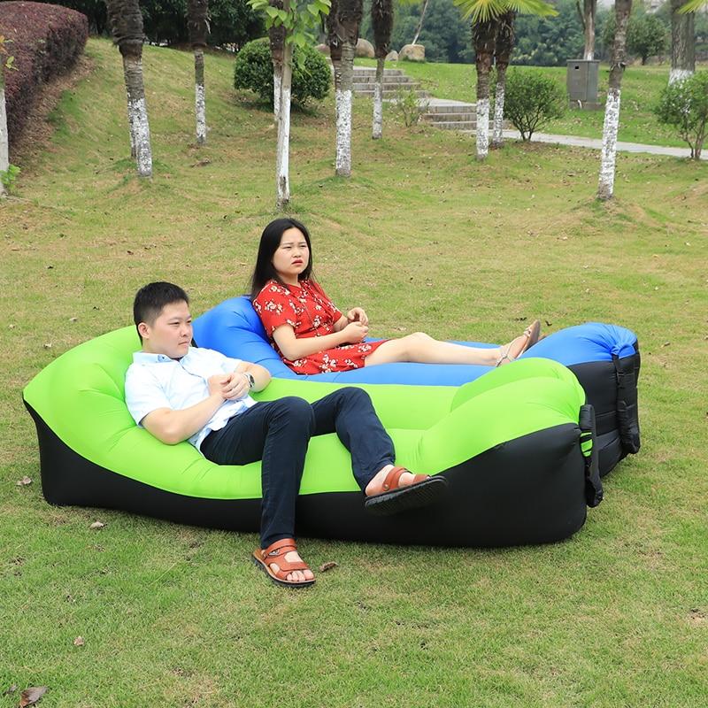 Camping Sofa Sleeping lay bag Fast Inflatable banana Bag Hangout <font><b>Air</b></font> Bed Lounger Lazy Chair Mattress hiking