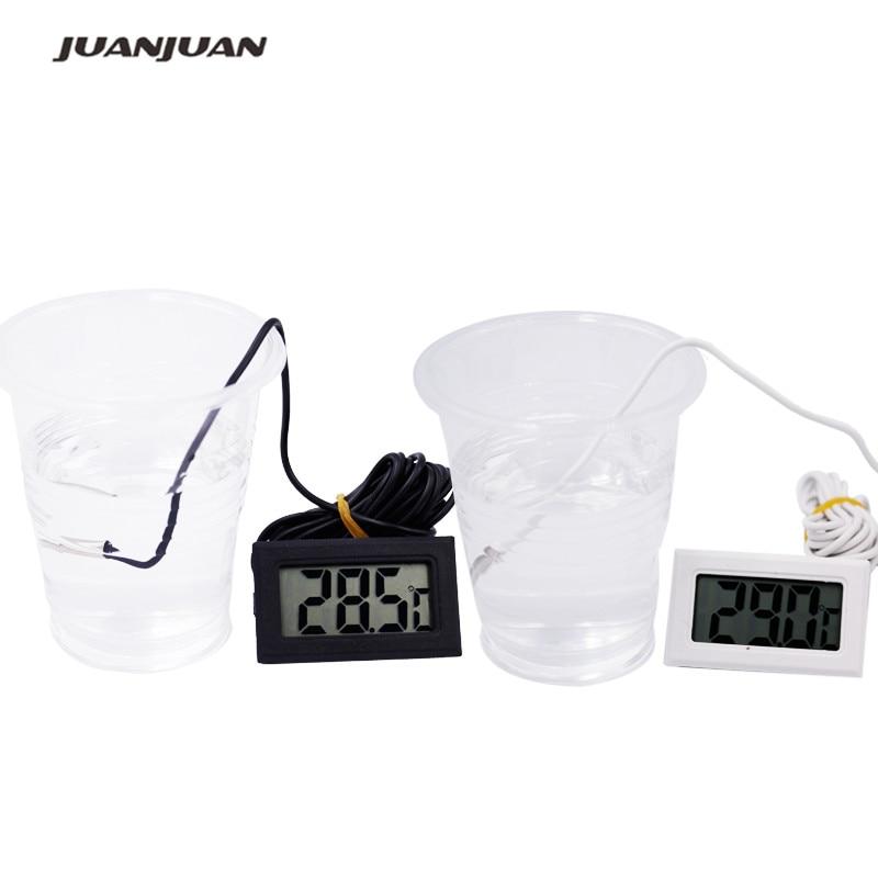 2 m linea ad alta qulity LCD digitale misurazione della temperatura elettronica fish tank temp meter acquario termometro 21%