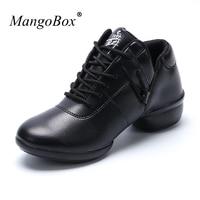 MangoBox Designer Girls Dance Sneakers Luxury Brand Non-Slip Shoes Ballroom Dancing Black Red Female Light Weight Gym Shoes