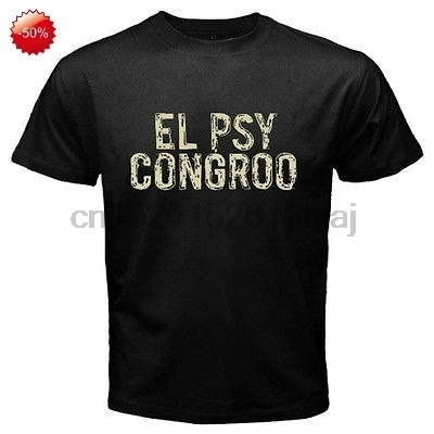 New Steins Gate El Psy Congroo Anime Mens Black T-shirt Size S-3xl Tops & Tees