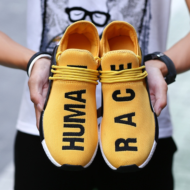 4c83f1bae Brand Sneakers Men Human Race Unisex Spring Casual Men Shoes Breathable  Flats Shoes Men Trainers Shoes chaussure homme Big Size
