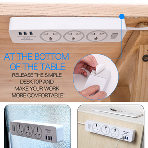 Image 4 - Urbantin 3AC&3 USB Power Strip Smart plug 2.1A 2.4A quick charge Power Strip Universal socket For EU AU UK US