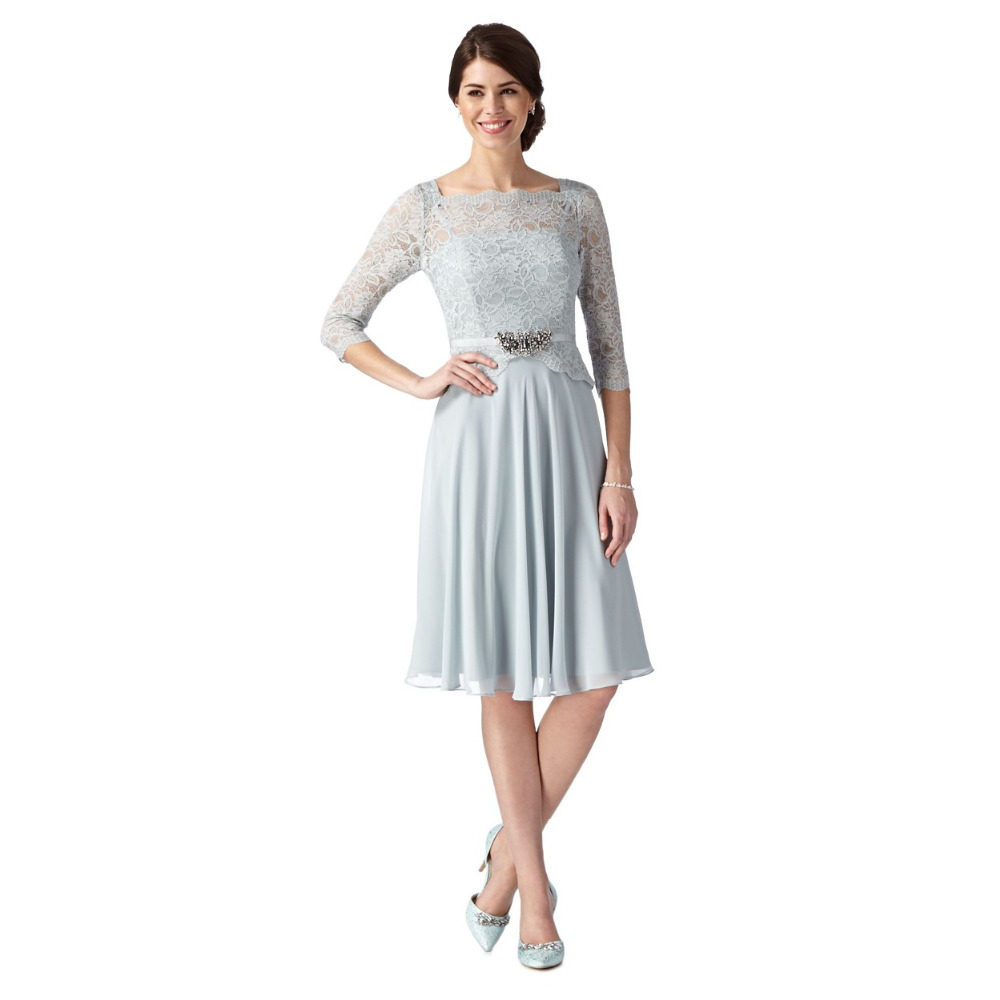 Online get cheap simple chiffon pleats sweetheart short bridesmaid simple short bridesmaid dresses with half sleeve light blue chiffon and lace wedding party gowns vestido ombrellifo Images