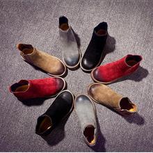 ในช่วงฤดูหนาวรองเท้าหนังใหม่/แบนอังกฤษลมMSมาร์ติน/ต่ำรองเท้ากระป๋องบูตข้อเท้าโจ๊กอัศวินหญิง/จัดส่งฟรี