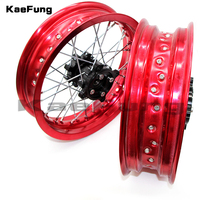 motorcycle dirt Pit bike Rims 15mm hole 2.50 12inch & 3.00x12inch front and rear wheel rim whit CNC hub for CRF Kayo BSE Apollo