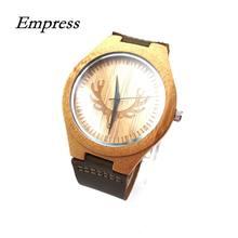 1d471a4e6bb 2018 Homens Relógio De Quartzo de Madeira de Bambu da IMPERATRIZ Moderno  relógio de Pulso Presentes