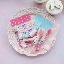 new 9*12.5cm 100pcs pink bear bow blue dot Candy paper Chocolate Taffy Wrap For Christmas wedding Party Gift Decoration