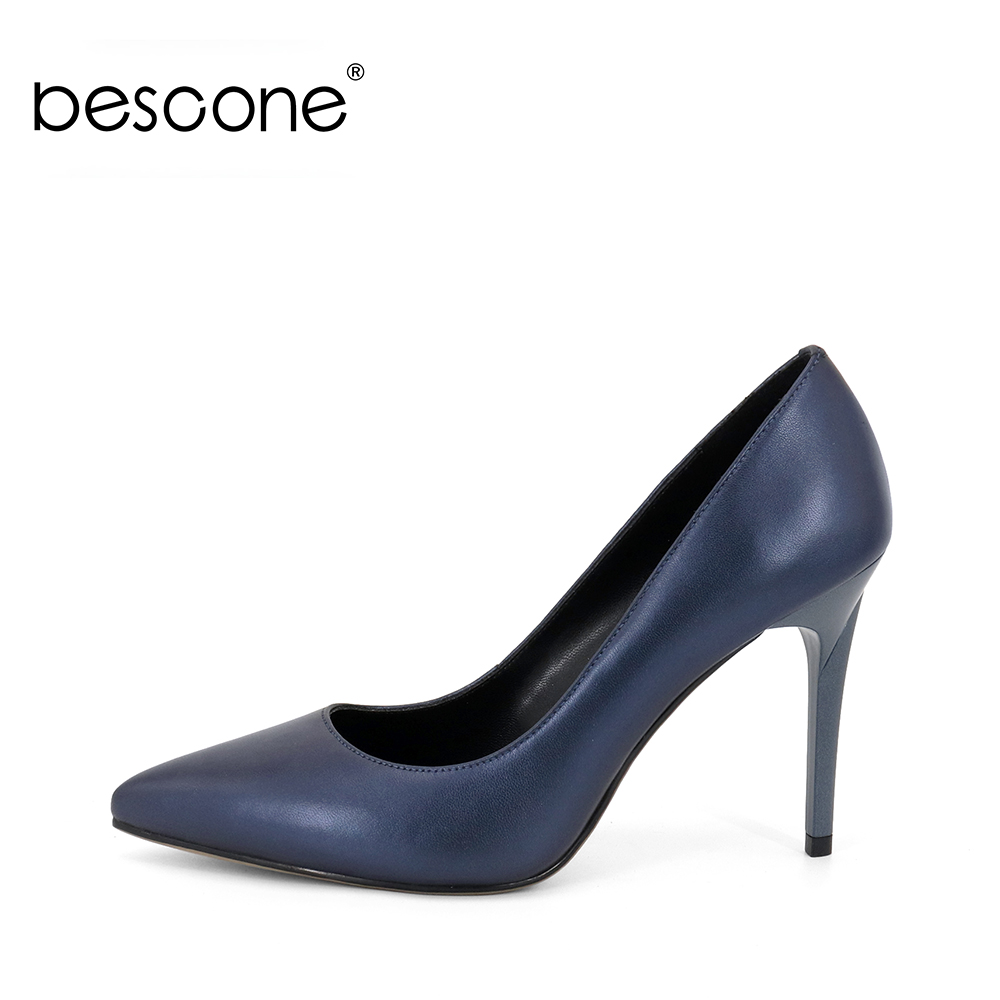BESCONE 2019 Hot Sale Shoes Sheepskin High Heels Women Genuine Leather Pumps Fashion Sexy Pointed Toe Handmade Wedding Shoes A73BESCONE 2019 Hot Sale Shoes Sheepskin High Heels Women Genuine Leather Pumps Fashion Sexy Pointed Toe Handmade Wedding Shoes A73