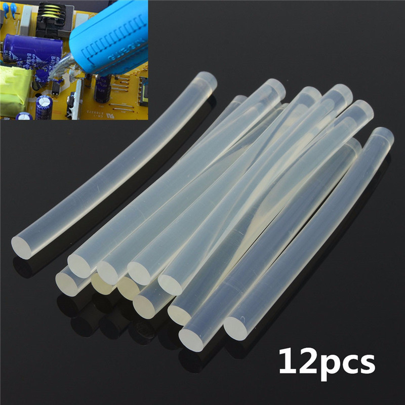 12pcs Set Plastic Hot Melt Glue Stick For For Plastic Wood
