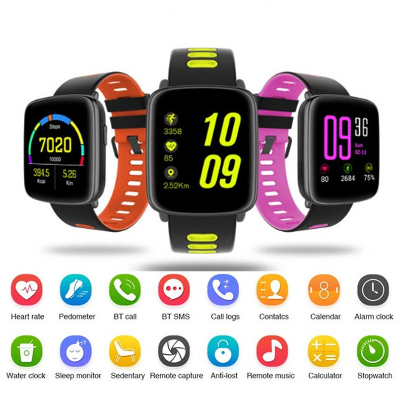 GV68 Bluetooth Smart Watch SmartWatch IP68 Heart Rate Monitor Pedometer Remote for iPhone Android Phone
