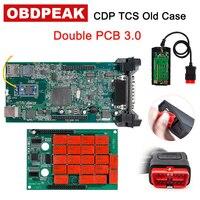 CDP TCS WOW Bluetooth 2016.R1/2015.R3 keygen V3.0 Green Double PCB obd2 scanner car truck diagnostic tool as multidiag pro