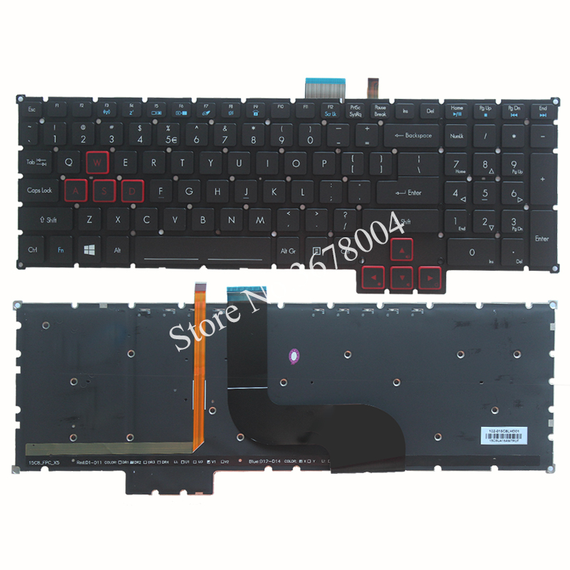 NEW laptop Keyboard for Acer Predator 17 15 G9-791 G9-791G G9-591 G9-591G G9-591R US KEYBOARD new predator cooling fanor for acer predator 15 17 17x g5 g9 592 g9 593 g9 g9 791 79xv g9 792 g9 793 cd rom cooling fan