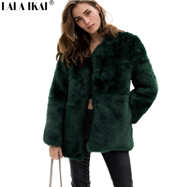 Winter Women Plus Size 3XL Solid Fluffy Hair Faux Fur Coat Black White  Green Pink Wine Red Street lady Fur Outerwear SWQ0365-45 4fa842006