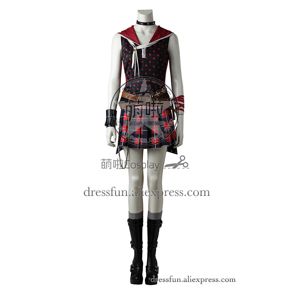 Final Fantasy XV Cosplay Costume Iris Amicitia Costume Skirt Outfits Uniform Full Set Fashion Fast Shipping Halloween Party