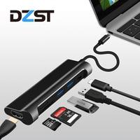 DZLST USB C 3 1 Type C To USB 3 0 HDMI SD TF Card Reader