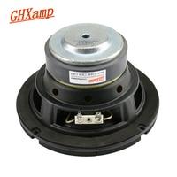 GHXAMP 6.5 inch Subwoofer Woofer Speaker 4ohm 60W High Power For 3 Way Car Audio Loudspeaker Long stroke Rubber edge 1pc
