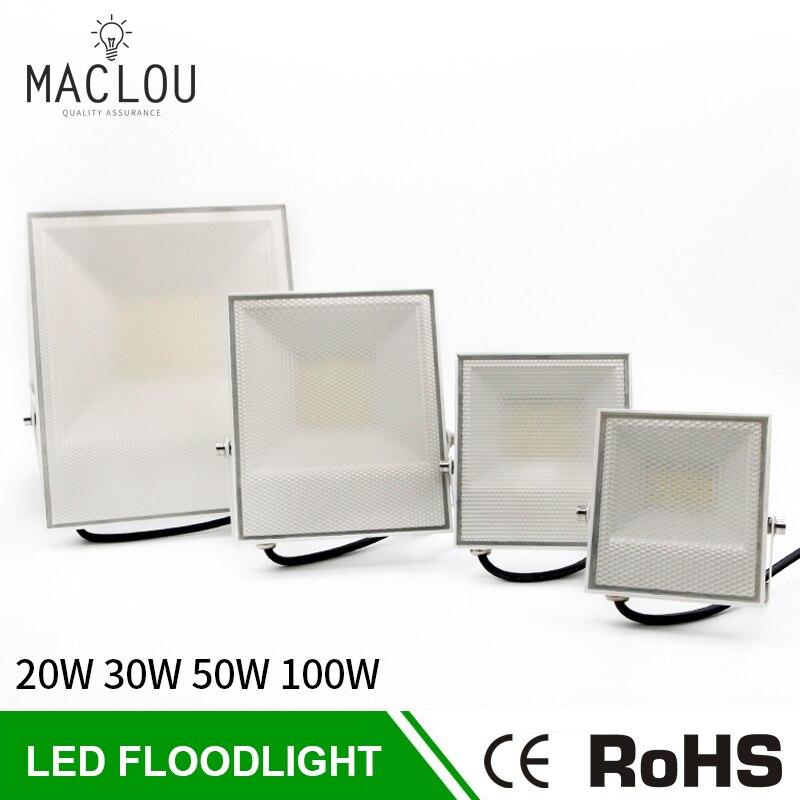 Led Flood Light IP65 Waterproof 220V 20W 30W 50W 100W Outdoor Reflector Led Projector Floodlight Wall Lamp Garden LED Spotlight