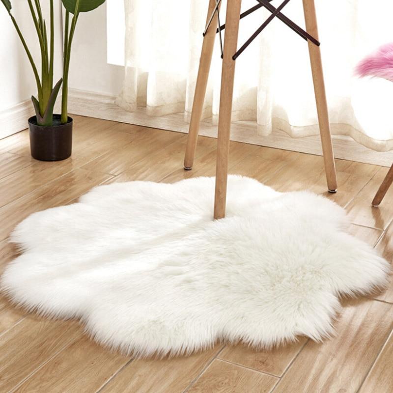 Fluffy Rug Carpets For Living Room Decor Faux Fur Carpet