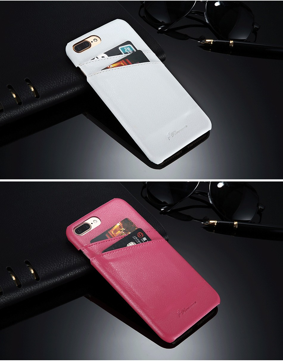 genuine leather card slot case for iPhone 6 6s Plus 7 7 Plus (18)