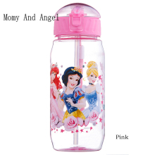 Momy and Angel 400ml Disne Minnie/Mickey Mouse Kid Drinking Bottle Feeding Straw Children Cup Feeding Baby Bottles Water Bottle