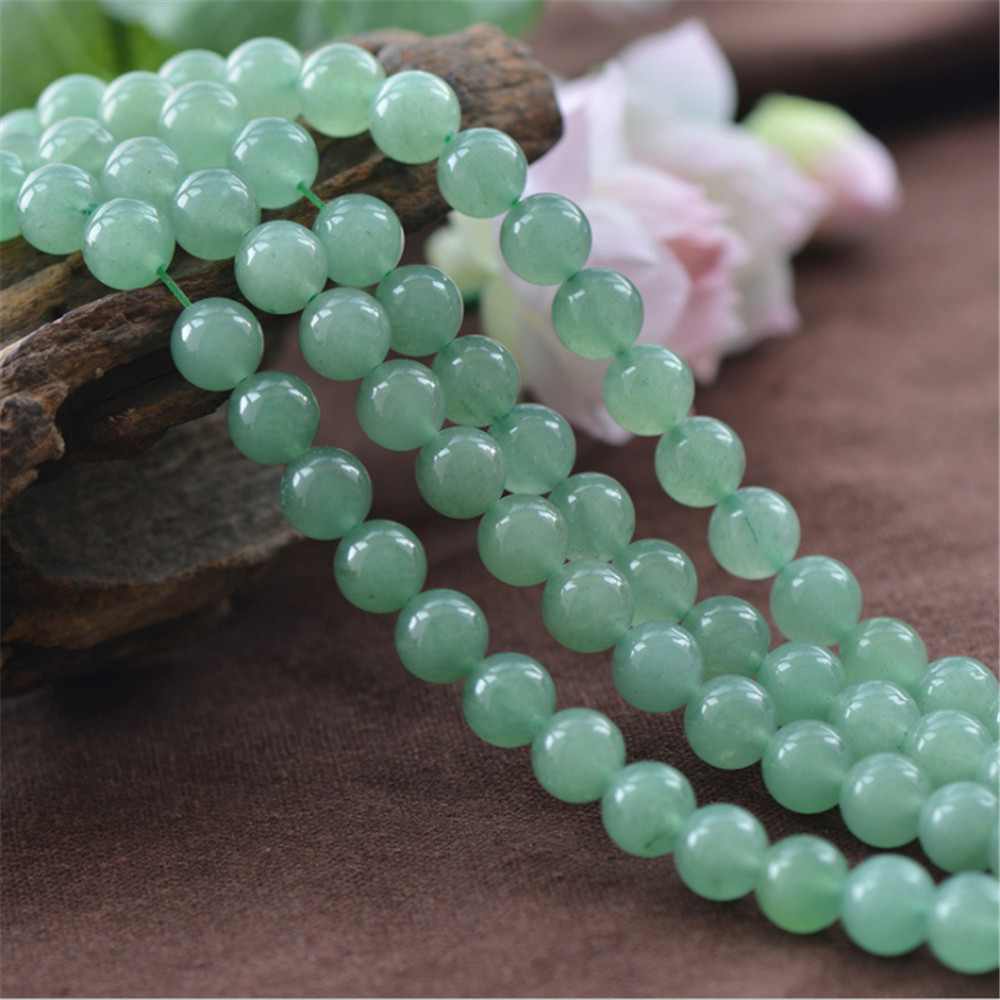 Joanlyn Aventurine-Beads Natural Green 10mm 8mm Round 12mm 6mm 4mm Smooth AR01 Polished