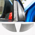 2016 Car Styling 2PCS/SET Stainless Steel Car Front Door Internal the triangle Chromium Plating Sequins For Toyota RAV4 2016