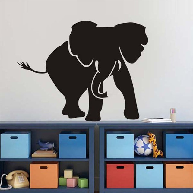 Removable Elephant Animal Decals Wall Stickers For Kids Rooms Boys Bedroom  Decoration Nursery Art Vinyl Sticker