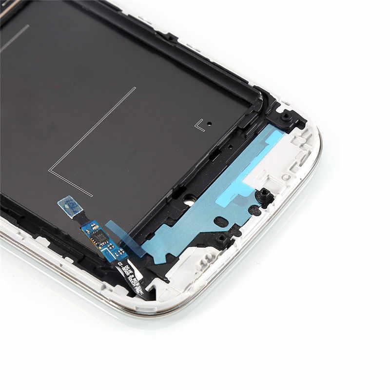 """I9500 lcd 5.0 """"لسامسونج غالاكسي S4 i9500 شاشة الكريستال السائل مجموعة المحولات الرقمية لشاشة تعمل بلمس الحافة الإطار i9500 عرض S4 عرض"""
