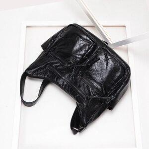 Image 5 - Burlie sacs à Main en cuir PU souple pour femmes, sacoches de bonne qualité pour dames, Sac à épaule de luxe lavé, nouvelle collection