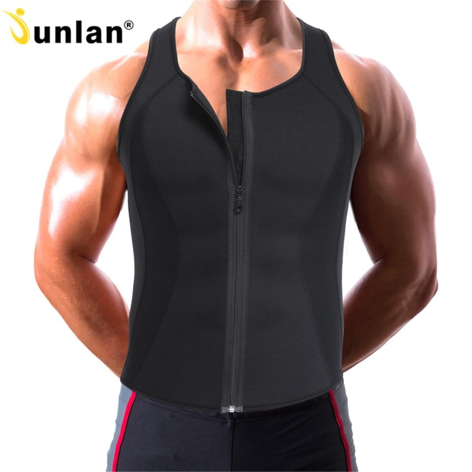 Sweat Waist Trainer Shapewear for Mens Workout Vest Body Shaper Bodysuit Spandex Leotards Abdomen Lose Weight Slimming Corset