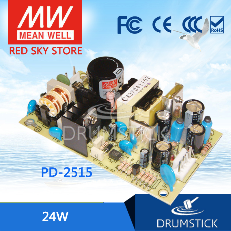 Genuine MEAN WELL original PD-2515 meanwell PD-25 24W Dual Output Switching Power Supply pd 5010а