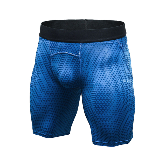 YD Brand 2017 New compression quick dry Shorts for men summer gym training runnning shorts Fitness Tights Polyester Men's Shorts