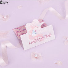 bxlyy unicorn flamingo greetingsthank youblessing cardmessage cardgift stationery school supplies christmas baby shower7z