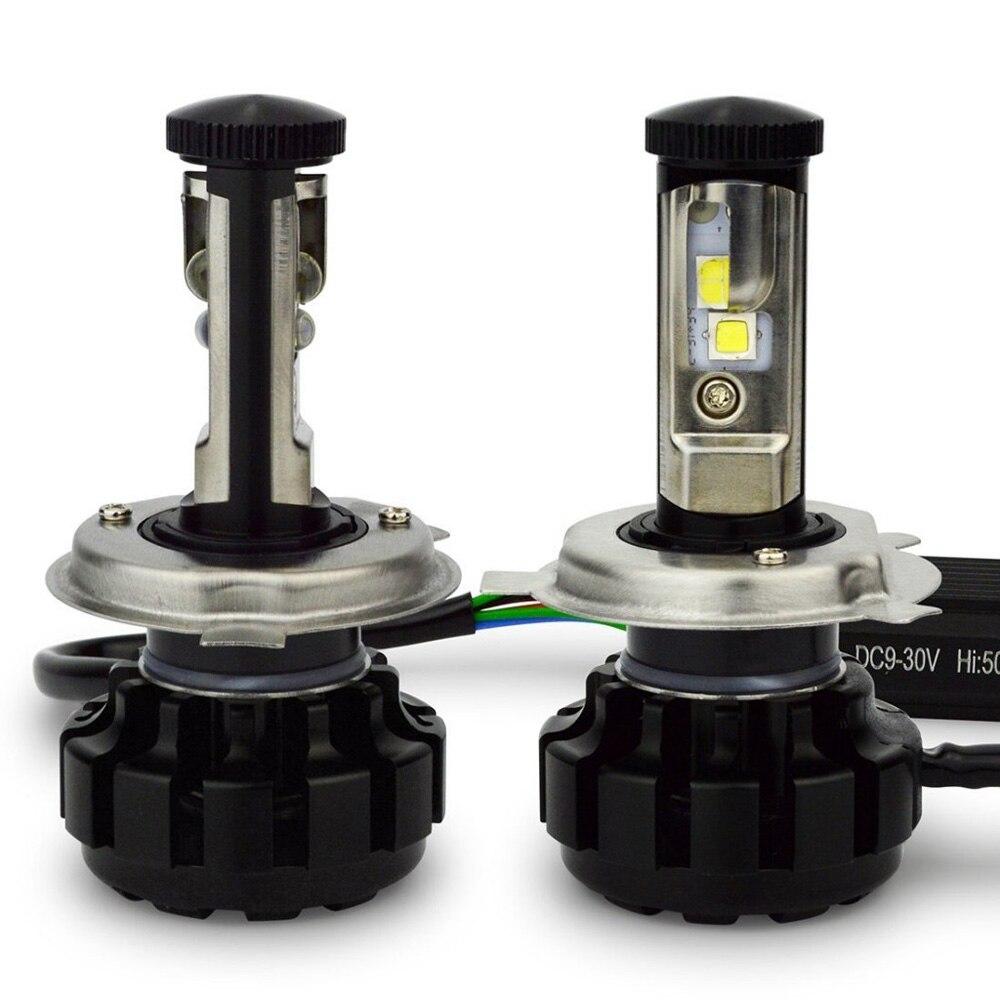 120 w 12000lm per lampadina CR EE chip U2V18 Canbus Led Del Faro lampadine H4 9003 Kit di Conversione con Ventilatore Turbo 3000 k 4300 k 6000 k 8000 k