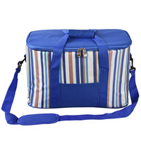 35 L Striped Thermal Insulated Cooler Bag Extra Large Capacity Picnic Lunch Bag Box Trips BBQ Ice Pack Accessories Supplies