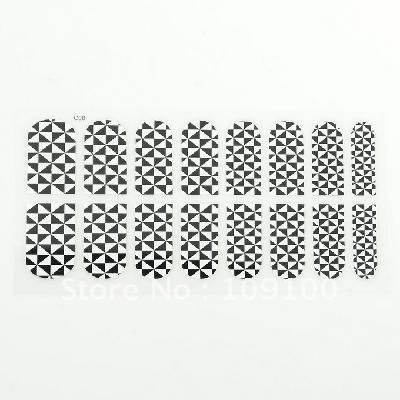 Free shipping /16 Style Nail Art Patch Decoration Sticker Foils Decals 10sets/lot