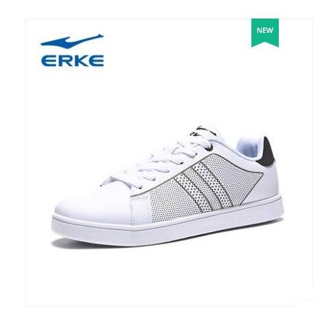 Ерке обувь мужчин 2018 Весенняя Новинка износостойкие спортивные туфли тенденция скейт обувь белые туфли
