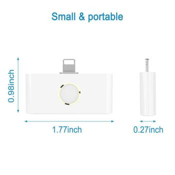 New External Home Button Audio Converter with Home Button for iPhone, 2-port Plug-and-play Music Charging Connector Adapter 1