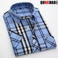2016 new arrival Verão masculino xadrez de algodão de moda super grande-camisa de manga curta plus size xs s m l xl 2xl 3xl 4xl 5xl 6xl 7XL