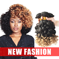 Pelo malasio de la Virgen Spiral Curl Weave Ombre Weave 3 Paquetes de Malasia Pelo Virginal 1B/27 Ombre Extensiones de Cabello Rizado pelo