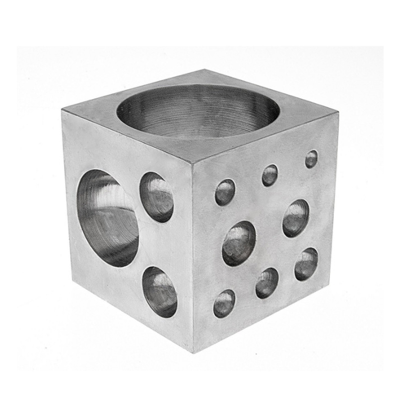 18 Round Cavities Metal Forming Dapping Doming Jewelry Dapping Tools Size 2 - 38mm Goldsmithing Tools Square Dapping Block